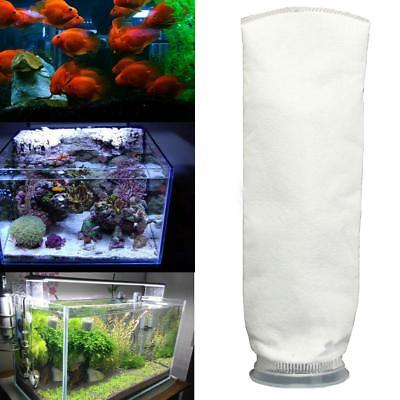"100um 4 ""x 15''Aquarium Fish Tank Marine puisard Felt Pre Filter Holder Sock"