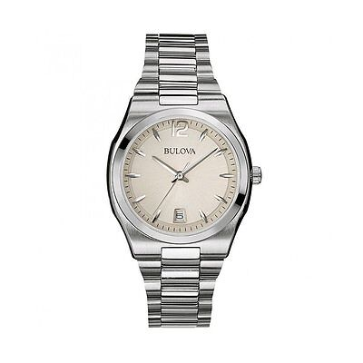 Bulova Classic Women's 96M126 Classic Quartz Grey Dial Silver Tone 34mm Watch