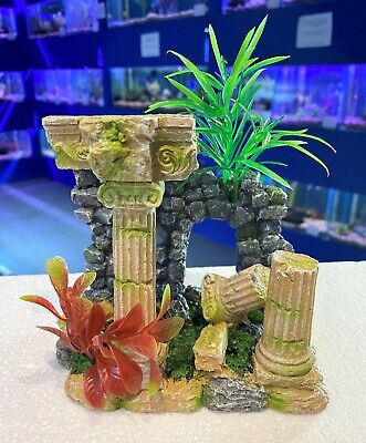 Medium Grecian Ruin Classic Aquarium Ornament for Fish Tanks MS915