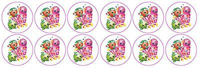Shopkins -  Edible Image ICING cupcake Toppers x 12