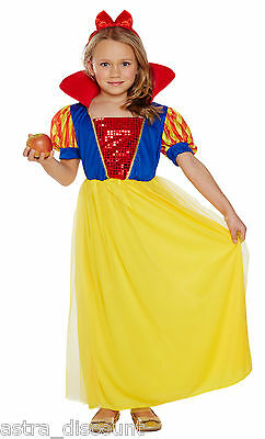 Kids SNOW Girl Fancy Dress Costume Princess Outfit Dress-up 7-9 Years Halloween