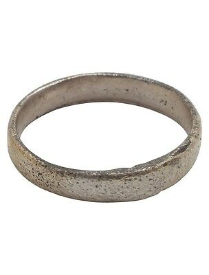 Ancient Viking Wedding Ring Silver over bronze  C.900A.D. Size 7 1/4  (16.9mm) [
