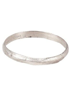 Ancient Viking Wedding Ring Silver over bronze  C.900A.D. Size 10  (19.4mm) [PWR