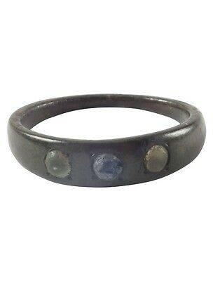 Medieval  Ring complete with stones C.13th-15th Century.  Size 10 (19.6mm)[Pwr11
