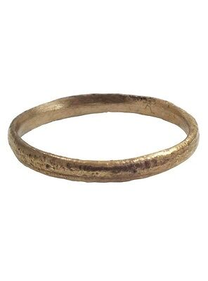 Ancient Viking Ring Wedding Band  C.900A.D. Size 12 1/2  (21.9mm)[PWR696]