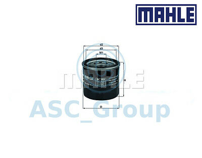 Genuine MAHLE Replacement Screw-on Engine Oil Filter OC 195 OC195
