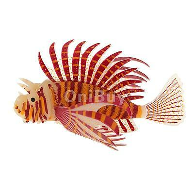 Aquarium Réservoir silicone Lionfish artificiel snailfish poisson Décor