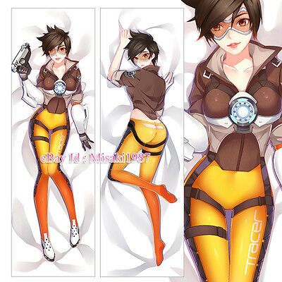 Overwatch Dakimakura Tracer Anime Hugging Body Pillow Case Cover