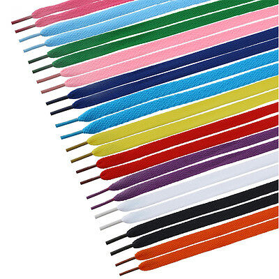 TINKSKY 12Pairs Unisex Flat Canvas Shoes Athletic Shoelaces Shoe String Strap