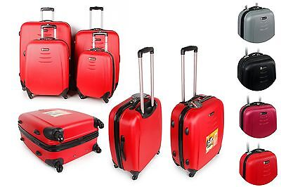 4 Wheels Super Lightweight Hard Shell Trolley Cases Suitcase Luggage Hard Cases