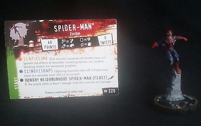 Heroclix Spider-Man Zombie #220 LE Marvel Miniature Game w/Card Horror-Clix NM