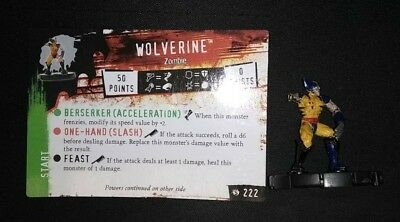Heroclix Wolverine Zombie LE Marvel Miniature Game w/Card Horror-Clix NM
