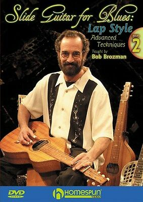 Bob Brozman: Slide Guitar For Blues - Lap Style (V... Gitarre 2 x DVD (Region 0)