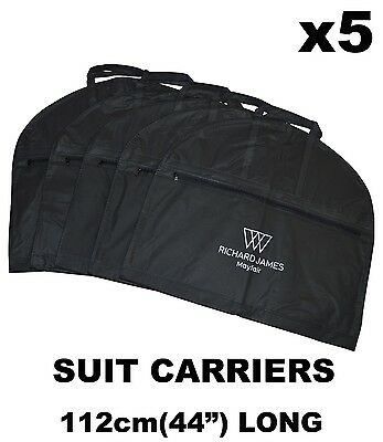 "5 New 44"" Suit Carrier Cover Bag Travel Storage Handles Pocket Waterproof Dress"