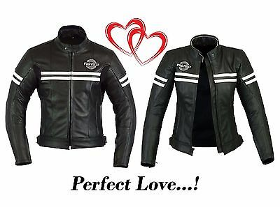 ProFirst Pure Leather Jacket set Motorbike Motorcycle Mens and Women CE Armoured