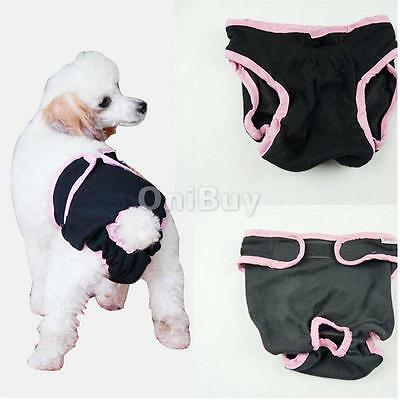 Femme Pet Dog Puppy Physiological Sanitary Pant Diaper Underwear Black XS