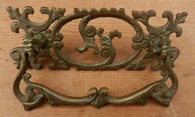 Antique Fancy Victorian Cast Brass Drawer Pull