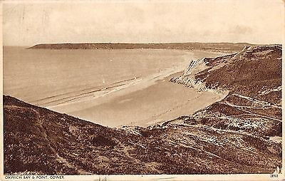 Wales Postcard Oxwich Bay & Point Gower  P3 005