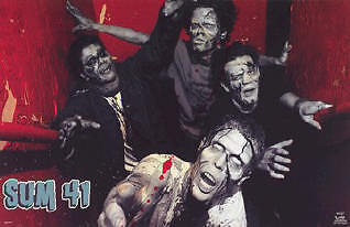 SUM 41 ~ ZOMBIES 22x34 MUSIC POSTER Does This Look Infected? Zombie NEW/ROLLED!