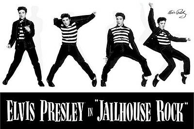 ELVIS PRESLEY ~ JAILHOUSE ROCK MONTAGE 24x36 MUSIC POSTER The King NEW/ROLLED!