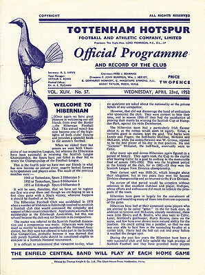 1951/52 Tottenham v Hibernian (Friendly)