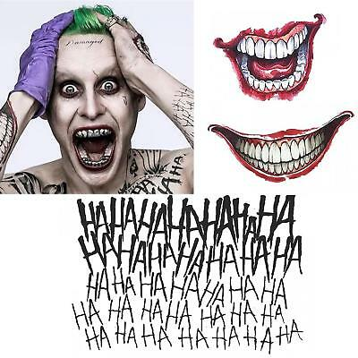 NEW Rubie's Suicide Squad: The Joker Temporary Body Tattoo Kit Costume Licensed
