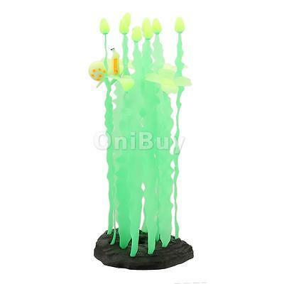 Faux Plante Artificielle ornement Seaweed Aquarium Fish Tank Home Decor Vert