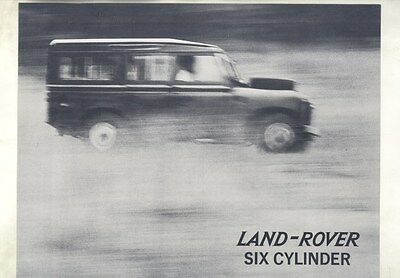 1963 ? Land Rover 109 6 Cylinder Station Wagon Brochure ww2916