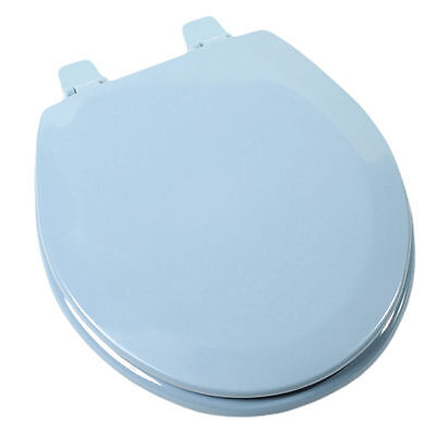 Jones Stephens C3B4R245 Regency Blue Round Wood Toilet Seat
