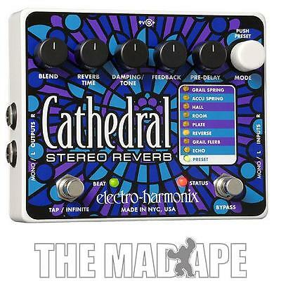 New Electro-Harmonix Cathedral Stereo Reverb Pedal