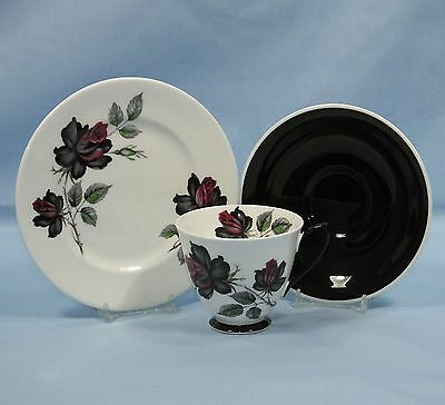 Royal Albert Masquerade Bone China Tea Cup Saucer & Side Plate Trio