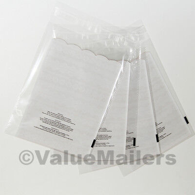 500 12x17 1.5 Mil Bags Resealable Clear Suffocation Warning Poly OPP Cello Bag