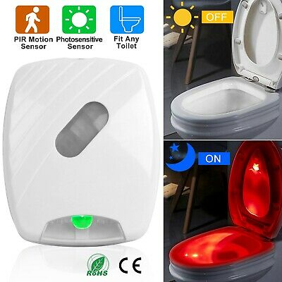Toilet Night Light LED Motion Activated Sensor Lamp Bathroom Seat Bowl