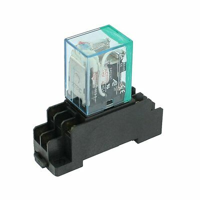 220/240V AC Coil DPDT Power Relay MY2NJ 8 Pin w Socket Base CT