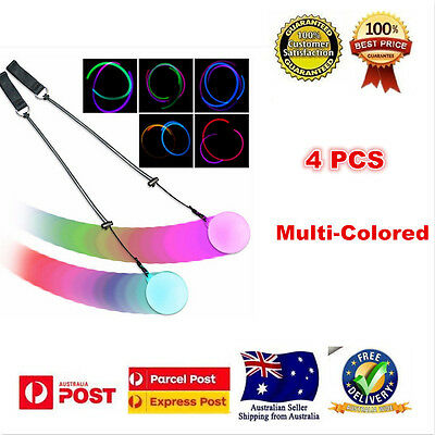 4 x LED Multi-Colored Glow POI Thrown Balls Light Up For Belly Dance Hand Props