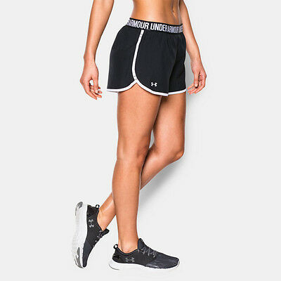 Under Armour Elasticated Perfect Pace Mujer Negro Shorts Pantalones Cortos Ropa