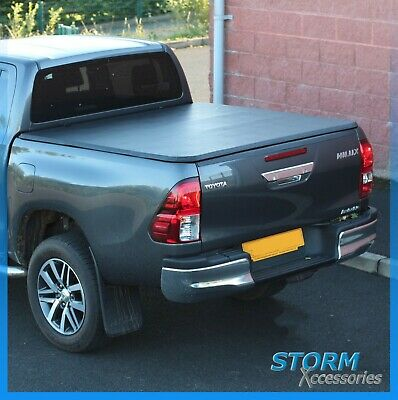2016 On Toyota Hilux Mk8 D/c Tri-Fold Soft Framed Tonneau Bed Cover - Non Drill