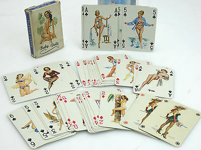 Kartenspiel Baby Dolls No.1002 playing cards 1958 in Original Schachtel  sj017