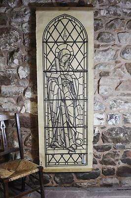 Very large original artwork/template for a stained glass window
