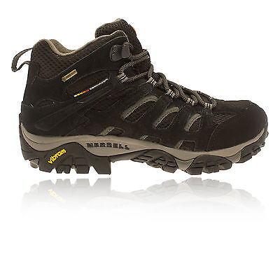 Merrell Moab Mid Mujer Negro Gore Tex Impermeable Excursionismo Botas Zapatos