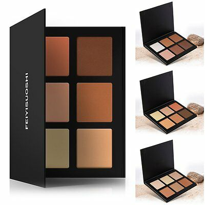 6 Colors Beauty Makeup Face Powder Glow Kit Gleam Highlighter & Bronzers Palette