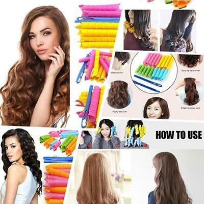 18PCS Hair Curlers Twist Spiral Circle Curlformers Magic Rollers Styling Tool-6A