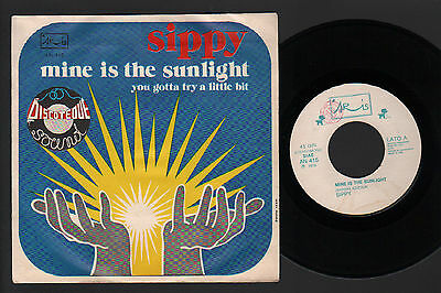 """7"""" Sippy Mine Is The Sunlight / You Gotta Try A Little Bit Italy 1976 Disco Pop"""