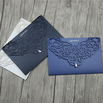 Laser Cut Wedding Invitation Cards With Custom Personalized Print,Envelope ,Seal