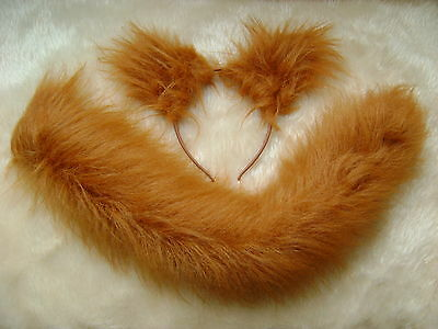 Chestnut Mouse Ears And Tail Set Instant Fancy Dress One Size Fits All Unisex