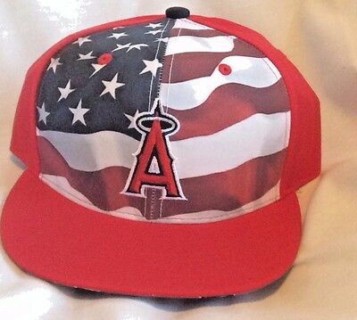3a24c5a9cc8f1 MLB LA ANGELS OF ANAHEIM Patriots Day Adjustable 9 11 Hat Baseball ...