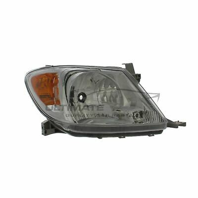 Toyota Hi-Lux 2005-2010 Chrome Front Headlight Headlamp O/S Drivers Right