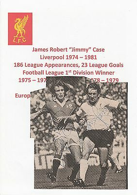 JIMMY CASE LIVERPOOL & SAMMY McILROY ORIGINAL HAND SIGNED MAGAZINE CUTTING