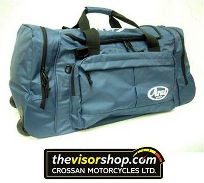 ARAI Helmets WHEELED KIT BAG / HOLDALL,with pull out handles - Navy Blue