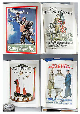 Flagg Poster Book 20 Full Colour WW1 and WWII Vintage Posters - Printed 1975